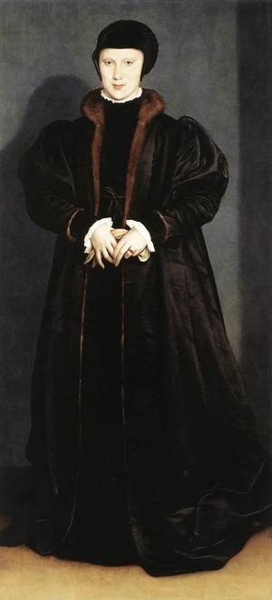 Reproduction oil paintings - Hans, the Younger Holbein - Christina of Denmark, Ducchess of Milan 1538