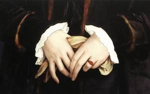 Reproduction oil paintings - Hans, the Younger Holbein - Christina of Denmark, Ducchess of Milan (detail) 1538