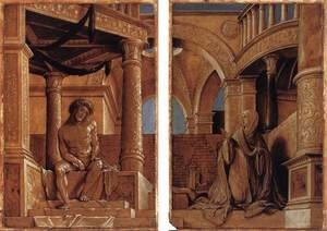 Reproduction oil paintings - Hans, the Younger Holbein - Diptych with Christ and the Mater Dolorosa c. 1520