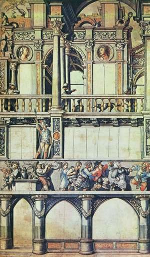 Reproduction oil paintings - Hans, the Younger Holbein - Drawing for the Façade Paintings in the Eisengasse (copy) first half of 16th century