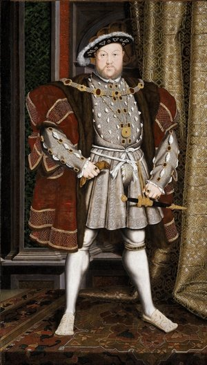 Famous paintings of Men: Henry VIII after 1537