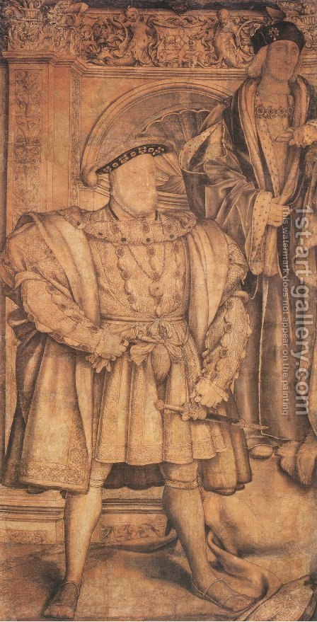 Henry VIII and Henry VII 1537 by Hans, the Younger Holbein - Reproduction Oil Painting