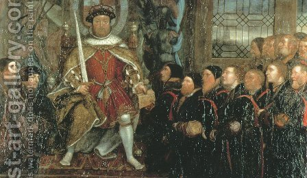 Henry VIII and the Barber Surgeons (2)  c. 1543 by Hans, the Younger Holbein - Reproduction Oil Painting