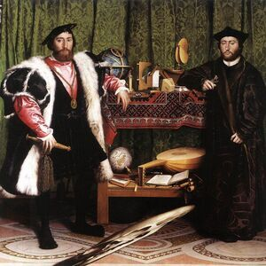 Reproduction oil paintings - Hans, the Younger Holbein - Jean de Dinteville and Georges de Selve (`The Ambassadors') 1533