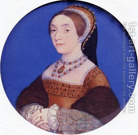 Portrait of an Unknown Lady c. 1541 by Hans, the Younger Holbein - Reproduction Oil Painting