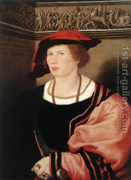 Portrait of Benedikt von Hertenstein 1517 by Hans, the Younger Holbein - Reproduction Oil Painting
