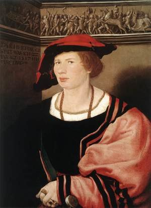 Reproduction oil paintings - Hans, the Younger Holbein - Portrait of Benedikt von Hertenstein 1517