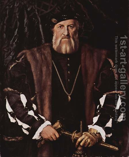 Portrait of Charles de Solier, Lord of Morette 1534-35 by Hans, the Younger Holbein - Reproduction Oil Painting