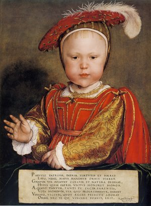 Reproduction oil paintings - Hans, the Younger Holbein - Portrait of Edward, Prince of Wales c. 1539