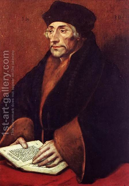 Portrait of Erasmus of Rotterdam 1530 by Hans, the Younger Holbein - Reproduction Oil Painting