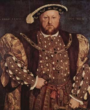 Famous paintings of Men: Portrait of Henry VIII 1540