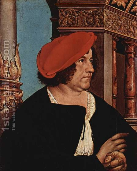 Portrait of Jakob Meyer zum Hasen (2)  1516 by Hans, the Younger Holbein - Reproduction Oil Painting