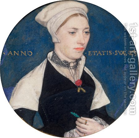 Portrait of Jane Pemberton c. 1540 by Hans, the Younger Holbein - Reproduction Oil Painting