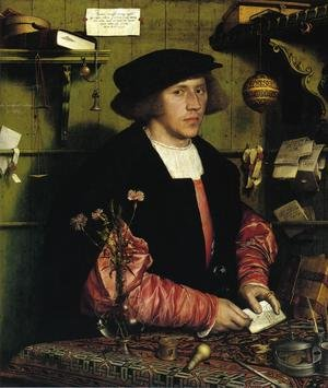 Hans, the Younger Holbein reproductions - Portrait of the Merchant Georg Gisze 1532