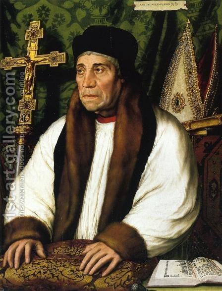 Portrait of William Warham, Archbishop of Canterbury 1527 by Hans, the Younger Holbein - Reproduction Oil Painting