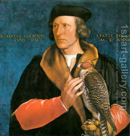 Robert Cheseman 1533 by Hans, the Younger Holbein - Reproduction Oil Painting