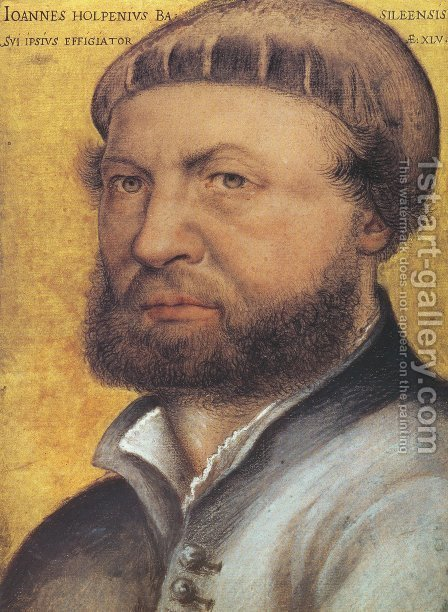 Self-Portrait  1542-43 by Hans, the Younger Holbein - Reproduction Oil Painting