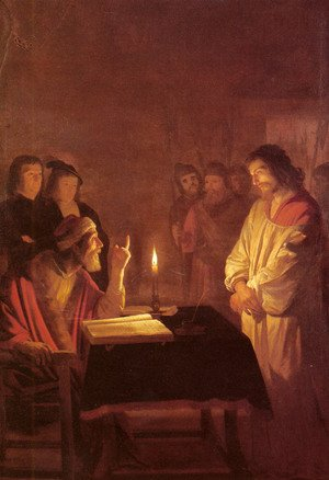 Reproduction oil paintings - Gerrit Van Honthorst - Christ before the High Priest c. 1617