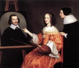 Reproduction oil paintings - Gerrit Van Honthorst - Margareta Maria de Roodere and Her Parents 1652