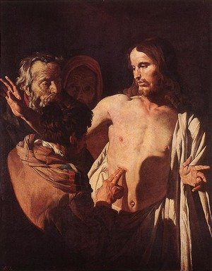 Reproduction oil paintings - Gerrit Van Honthorst - The Incredulity of St Thomas c. 1620