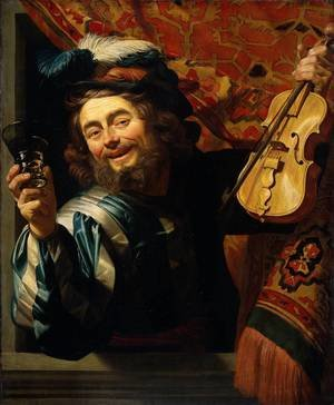 Reproduction oil paintings - Gerrit Van Honthorst - The Merry Fiddler  1623