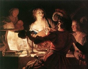 Reproduction oil paintings - Gerrit Van Honthorst - The Prodigal Son 1623
