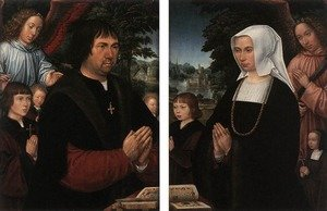 Famous paintings of Couples: Portraits of Lieven van Pottelsberghe and his Wife