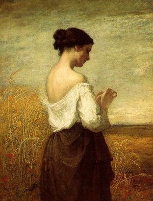 Realism painting reproductions: Peasant Girl  1852