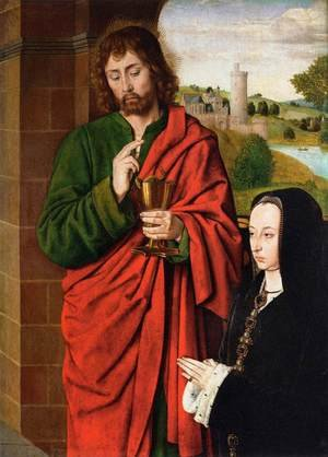 Anne of France- Duchess of Bourbon, Presented by St. John the Evangelist 1492-93
