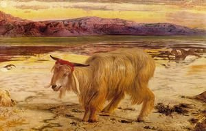 Famous paintings of Goats: The Scapegoat  1854