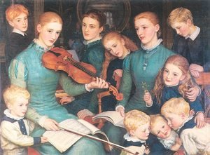Arthur Hughes reproductions - A Christmas Carol at Bracken Dene 1878-79