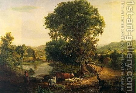 Afternoon  1846 by George Inness - Reproduction Oil Painting