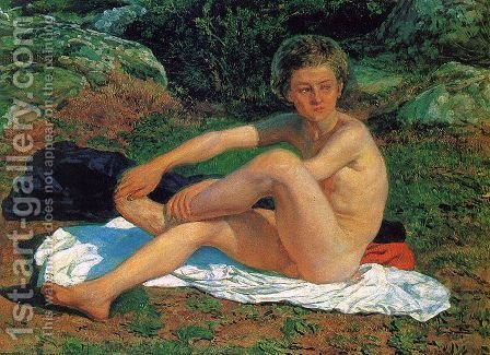 Nude Boy  1840s-1850s by Alexander Ivanov - Reproduction Oil Painting