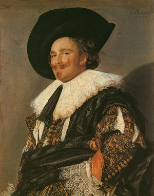Famous paintings of Men: The Laughing Cavalier  1624