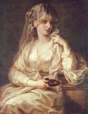 Reproduction oil paintings - Angelica Kauffmann - Portrait of a Woman Dressed as Vestal Virgin