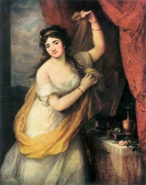 Reproduction oil paintings - Angelica Kauffmann - Portrait of a Woman  1795