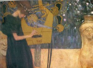 Reproduction oil paintings - Gustav Klimt - Music I  1895