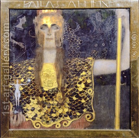 Pallas Athene  1898 by Gustav Klimt - Reproduction Oil Painting