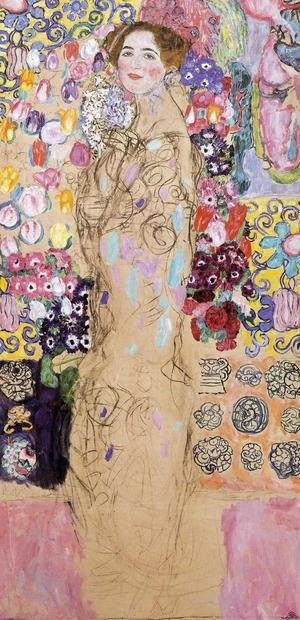 Reproduction oil paintings - Gustav Klimt - Portrait of a Lady  (unfinished) 1917-18