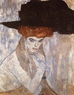 Reproduction oil paintings - Gustav Klimt - The Black Feather Hat  1910