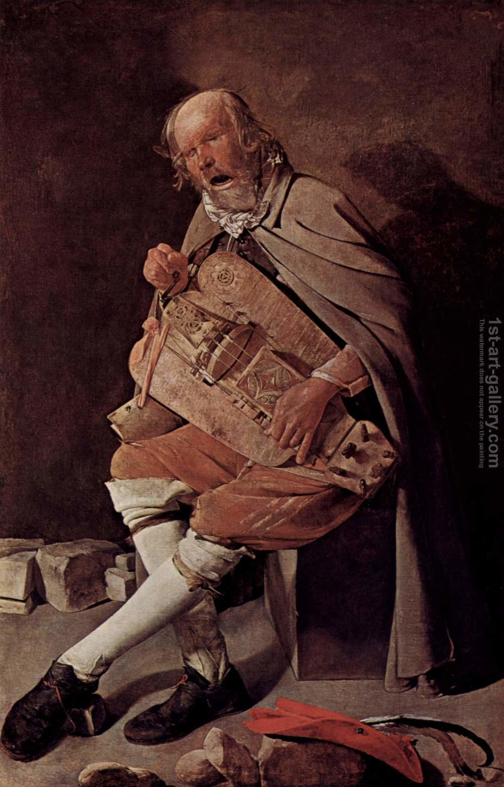 Huge version of The Hurdy-gurdy Player 1631-36