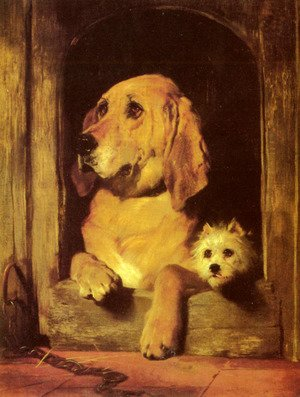 Famous paintings of Domestic Animals: Dignity and Impudence  1839