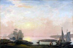 Reproduction oil paintings - Fitz Hugh Lane - Castine Harbor  1852