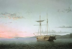 Reproduction oil paintings - Fitz Hugh Lane - Lumber Schooners at Evening on Penobscot Bay  1860