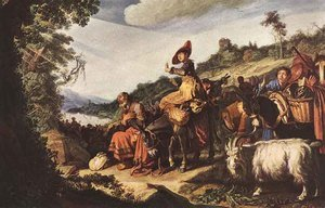 Reproduction oil paintings - Pieter Pietersz. Lastman - Abraham on the Way to Canaan  1614