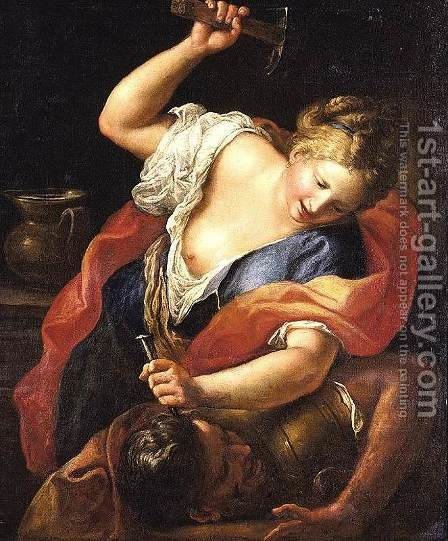 Jael and Sisera by Gregorio Lazzarini - Reproduction Oil Painting