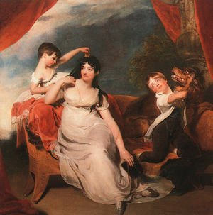 Reproduction oil paintings - Sir Thomas Lawrence - Mrs. Henry Baring and her Children  1817