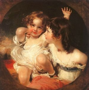 Sir Thomas Lawrence reproductions - The Calmady Children  1824