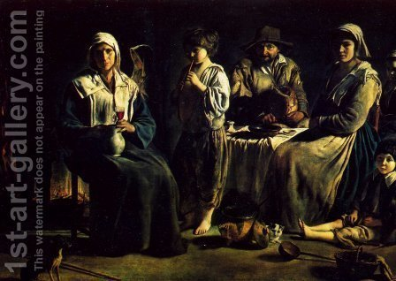 Peasant Family c. 1640 by Le Nain Brothers - Reproduction Oil Painting