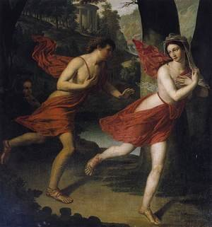 Reproduction oil paintings - Robert-Jacques-Francois-Faust Lefevre - Pauline as Daphne Fleeing from Apollo c. 1810